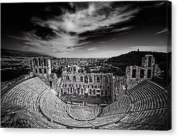 Odeon Of Herodes Atticus Canvas Print