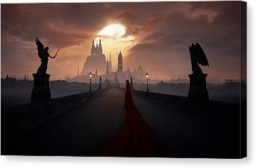 Of Angels And Demons Canvas Print