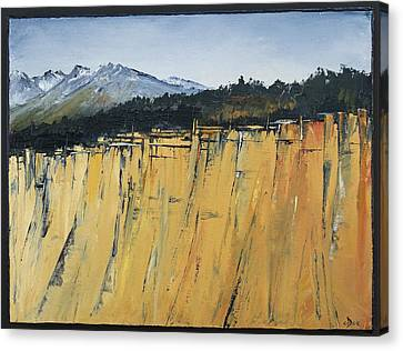 Of Bluff And Mountain Canvas Print by Carolyn Doe