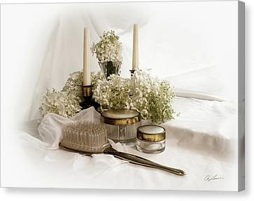 Canvas Print featuring the photograph Of Days Past by Ann Lauwers
