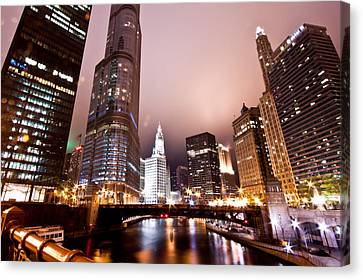 Chicago River Canvas Print - Of Liquid And Steel by Daniel Chen