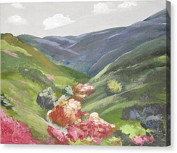Canvas Print featuring the painting Of Mountains And Valleys by Trilby Cole