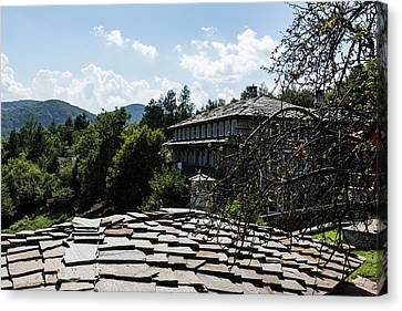 Of Slate Roofs And Gnarled Apple Trees Canvas Print