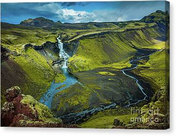 River Scenes Canvas Print - Ofaerufoss by Inge Johnsson