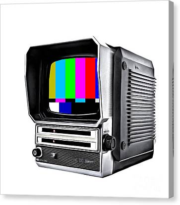 Off Air Television Canvas Print by Edward Fielding