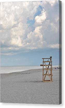 Canvas Print featuring the photograph Off Duty by Laura DAddona
