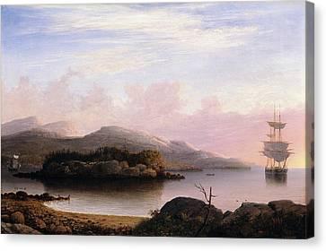 Off Mount Desert Island Canvas Print by Fitz Henry Lane
