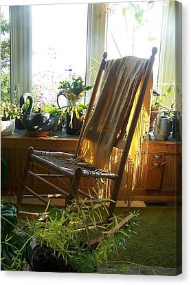 Canvas Print featuring the photograph Off My Rocker - Photograph by Jackie Mueller-Jones