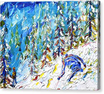 Off Piste Verbier Canvas Print