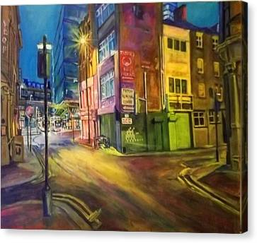 Off Shudehill Manchester Canvas Print
