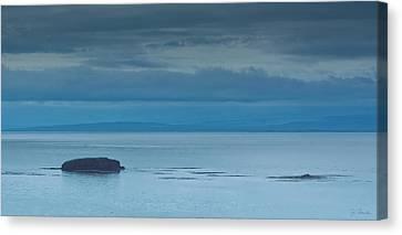 Canvas Print featuring the photograph Off The Iceland Coast by Joe Bonita