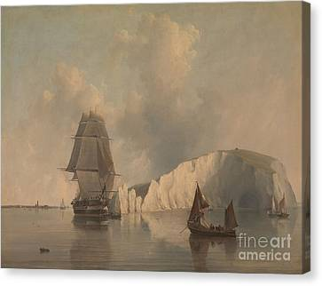 Off The Needles Isle Of Wight Canvas Print by Celestial Images