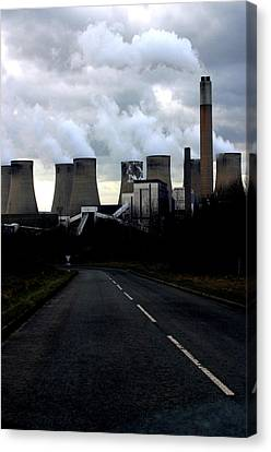 Canvas Print featuring the photograph Off To Work by Jez C Self