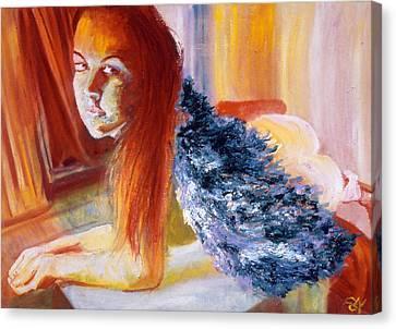 Office Angel II Canvas Print by LB Zaftig