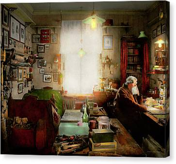 Office - Ole Tobias Olsen 1900 Canvas Print by Mike Savad