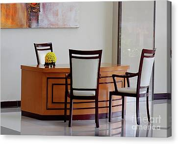 Office Set Up Canvas Print by Charuhas Images
