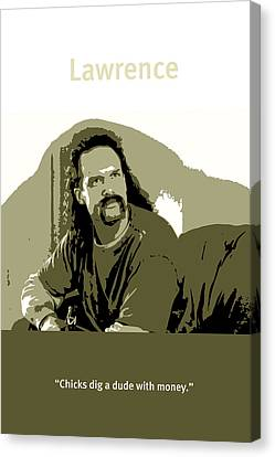 Office Space Lawrence Diedrich Bader Movie Quote Poster Series 006 Canvas Print