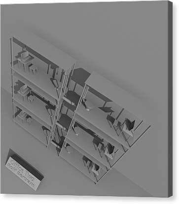 Office Two Canvas Print by Rolf Bertram