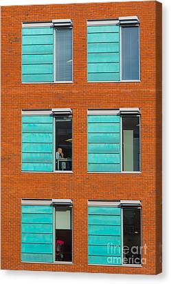 Canvas Print featuring the photograph Office Windows by Colin Rayner