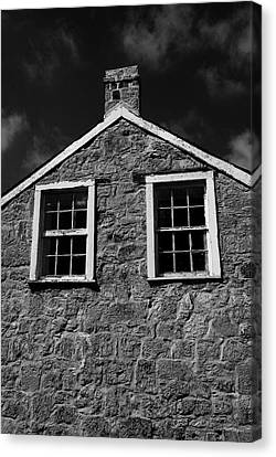 Officers Quarters, Monochrome Canvas Print by Travis Burgess