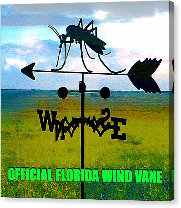 Official Florida Wind Vane Canvas Print by David Lee Thompson
