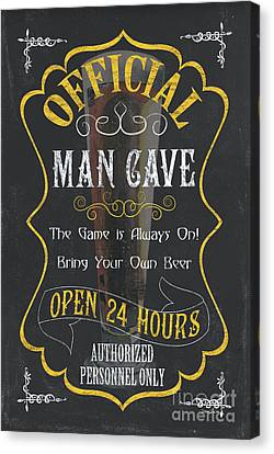 Official Man Cave Canvas Print by Debbie DeWitt