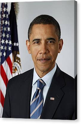 Official Portrait Of President Barack Canvas Print by Everett