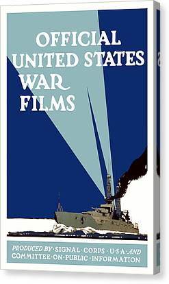 Official United States War Films Canvas Print by War Is Hell Store