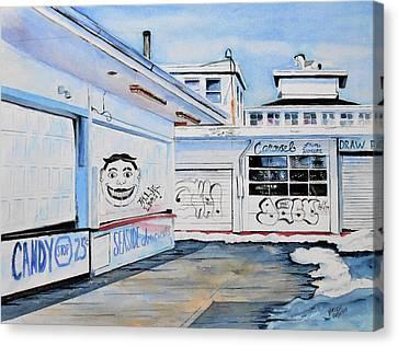 Seaside Heights Canvas Print - Offseason by Brian Degnon