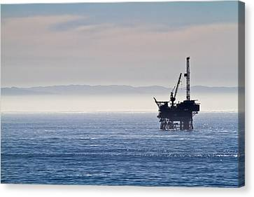 Offshore Oil Drilling Rig Canvas Print