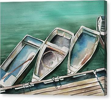 Ogunquit Maine Skiffs Canvas Print