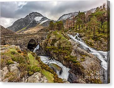 Cwm Idwal Canvas Print - Ogwen Bridge Winter by Adrian Evans