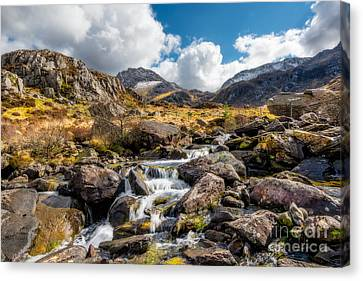 Cwm Idwal Canvas Print - Ogwen Valley Rapids by Adrian Evans