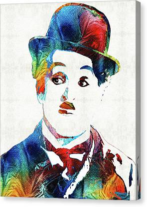 Oh Charlie - Charlie Chaplin Tribute Canvas Print by Sharon Cummings