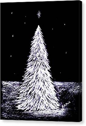 Oh Christmas Tree Canvas Print by Diane Frick