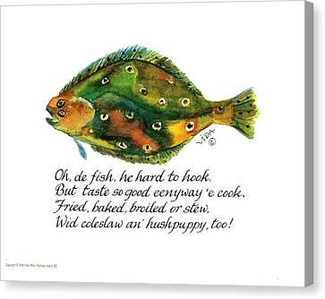 Oh De Fish Canvas Print by Vida Miller