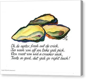 Oh De Oyster Canvas Print by Vida Miller