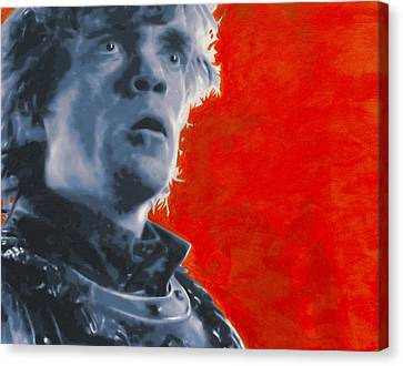 Canvas Print featuring the painting Tyrion Lannister by Luis Ludzska