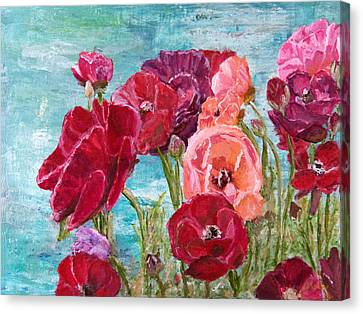 Oh, Giant Tecolote Ranunculus Canvas Print by Darla Nyren