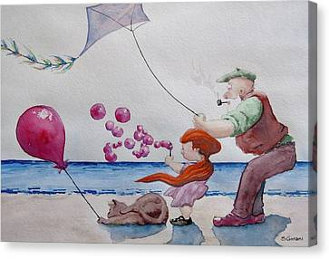 Oh My Bubbles Canvas Print by Geni Gorani