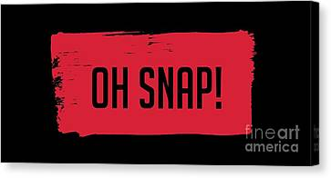 Oh Snap Tee Canvas Print by Edward Fielding