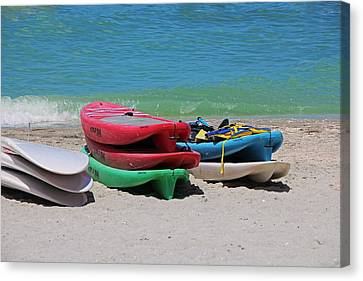 Canvas Print featuring the photograph Oh The Beach Life by Michiale Schneider