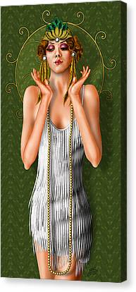 Oh Those Fabulous Flappers Canvas Print by Troy Brown