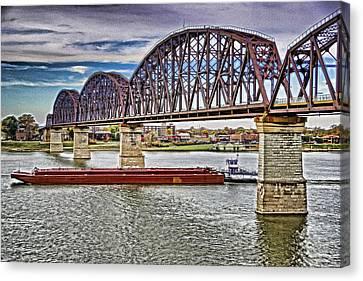 Ohio River Bridge Canvas Print by Dennis Cox