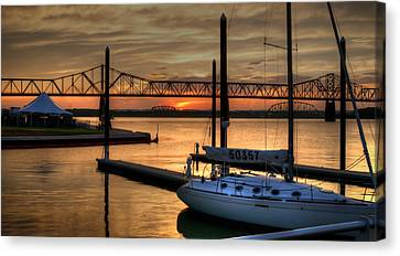 Canvas Print featuring the photograph Ohio River Sailing by Deborah Klubertanz