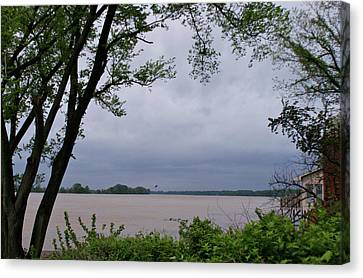 Ohio River Canvas Print by Sandy Keeton