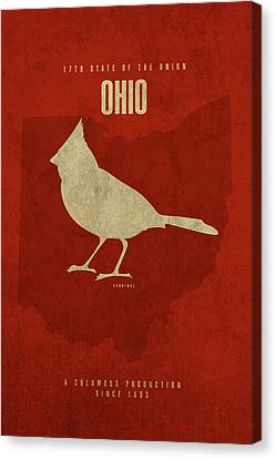 Movie Poster Canvas Print - Ohio State Facts Minimalist Movie Poster Art by Design Turnpike