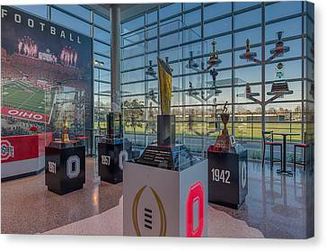 Ohio State Football National Championship Trophy Canvas Print by Scott McGuire