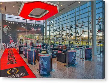 Ohio State Football Trophy Collection Heismans Canvas Print by Scott McGuire