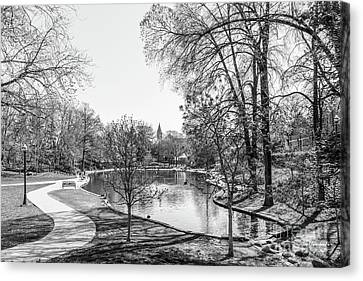 Ohio State University Mirror Lake Canvas Print by University Icons